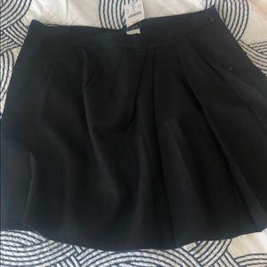 J crew mini black wool skirt pleats - 4